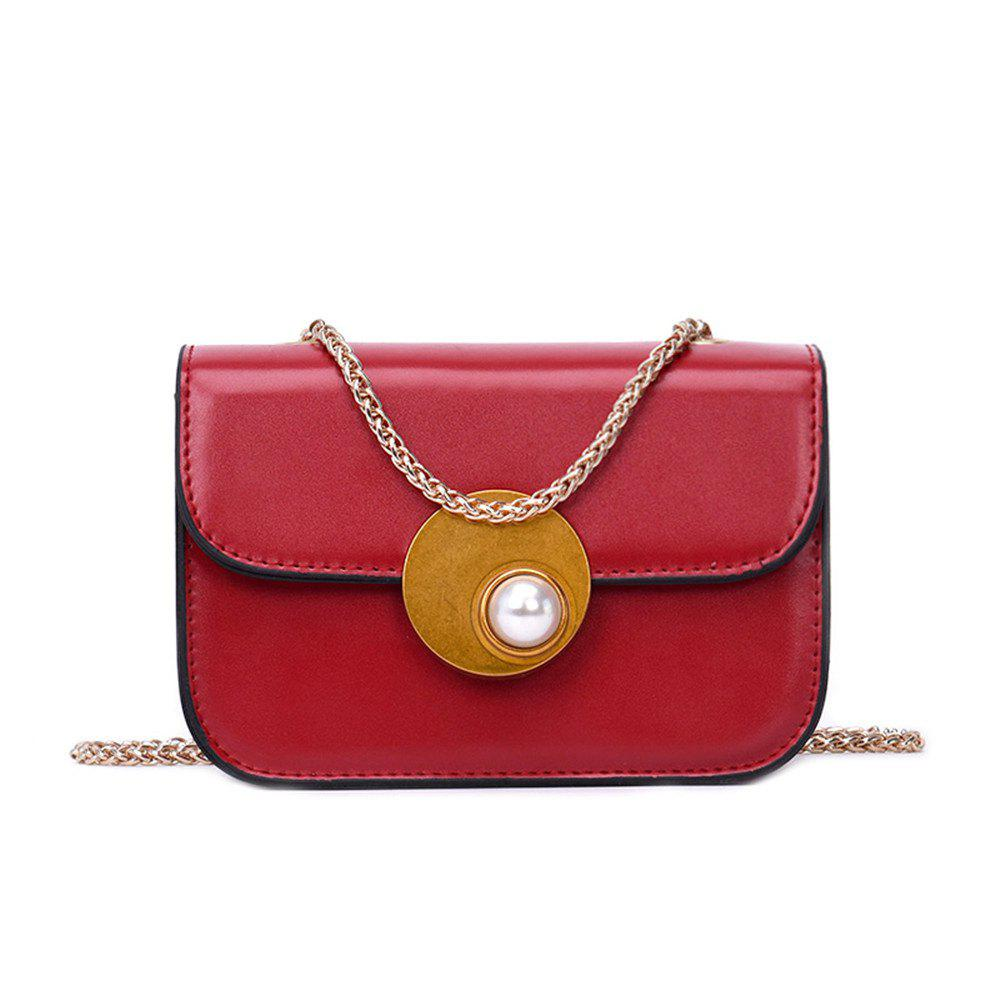 Small Female Fashion Chain Messenger Bag Small Party - RED