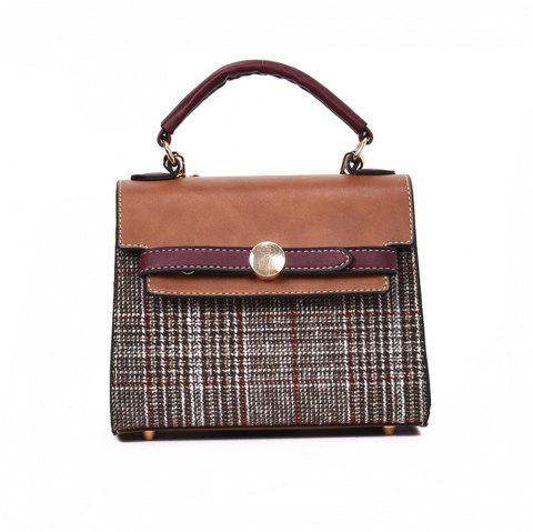 Female College Wind Wild Simple Small Shoulder Messenger Bag - BROWN