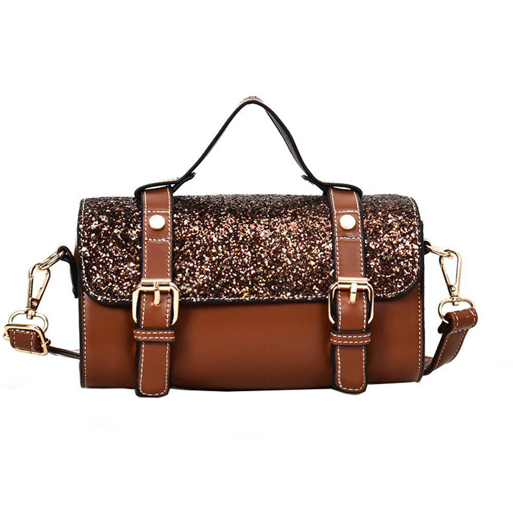 Small Female Wild Fashion Handbag Casual Hong Kong Shoulder Messenger Bag - BROWN