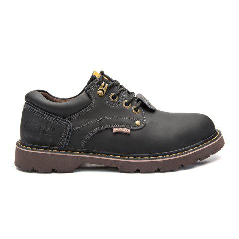 New Leather Tooling Men'S Shoes - BLACK 43