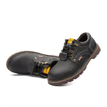 New Leather Tooling Men'S Shoes - BLACK 44
