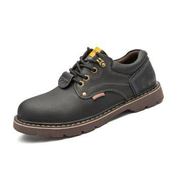 New Leather Tooling Men'S Shoes - BLACK 41