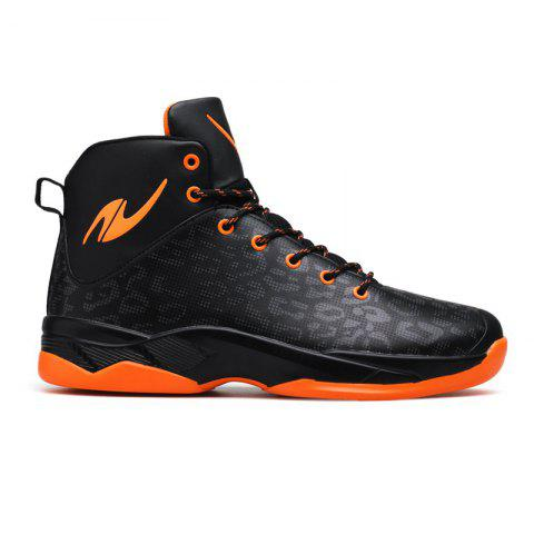 Le nouveau baskets léopard de basket-ball - Noir orange 44