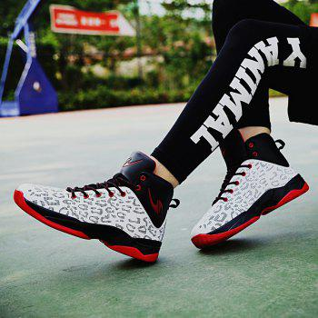 The Leopard Basketball New High Top Sneakers - WHITE 43