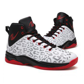 The Leopard Basketball New High Top Sneakers - WHITE 44