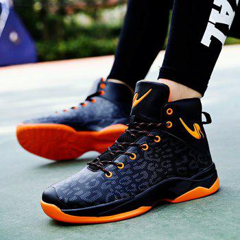 The Leopard Basketball New High Top Sneakers - ORANGE BLACK 44