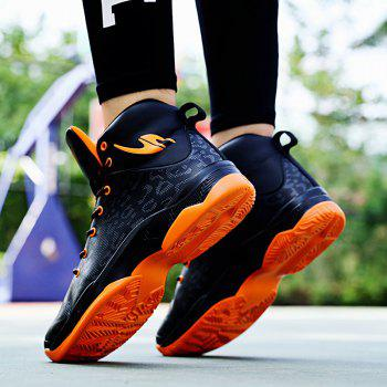 The Leopard Basketball New High Top Sneakers - ORANGE BLACK 39