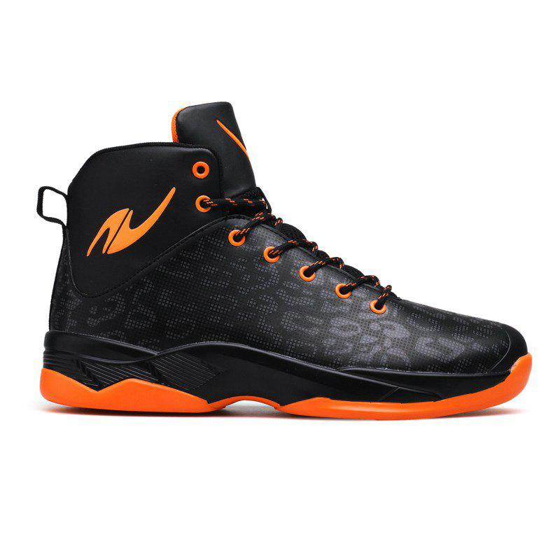Le nouveau baskets léopard de basket-ball - orange noir 43