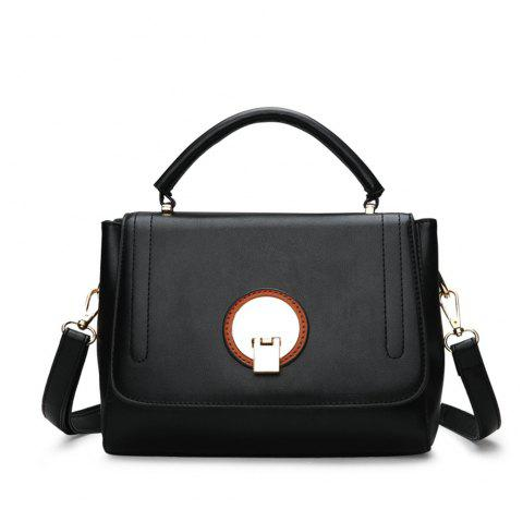 2019 Retro Postman Simple lady s Single Shoulder handbag In BLACK ... 1a84d3e143618