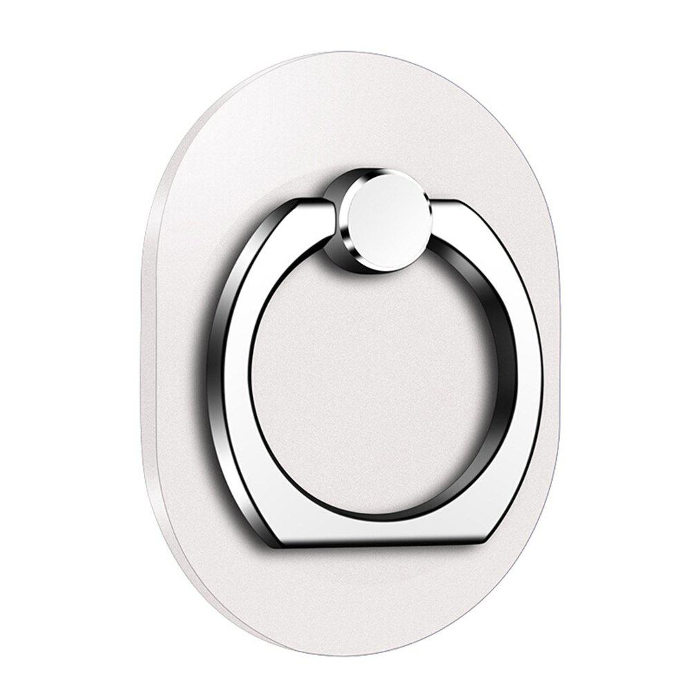 Oval 360 Degree Mobile Finger Ring Holder Mobile Phone Stand - SILVER