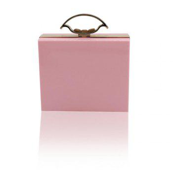 New Arrival Minaudiere Pvc Day Clutches Open Manufacturers Selling High-end Antique Telephone Banquet Dinner bag - PINK