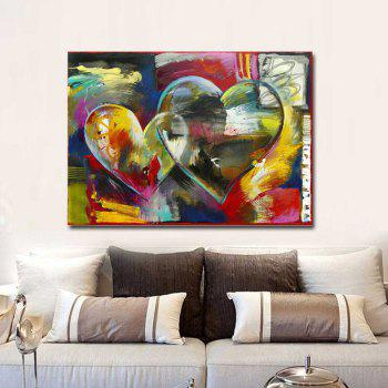 Modern Hand Painted Abstract Heart Sharp Oil Painting on Canvas Living Room Home Wall Decor No Frame - COLORMIX COLORMIX