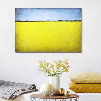 Hand Painted Abstract Oil Painting Living Room Home Wall Decoration - YELLOW 24 X 36 INCH (60CM X 90CM)