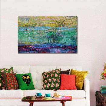 High Quality Hand Painted Abstract Acrylic Paint Oil Painting Canvas Art Frameless - COLORMIX 24 X 36 INCH (60CM X 90CM)