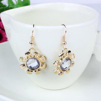 Ensemble de boucles d'oreilles en forme de diamant rose en alliage - Or