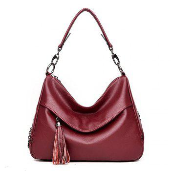 Stylish Shoulder Diagonal Portable Lady Backpack - RED RED