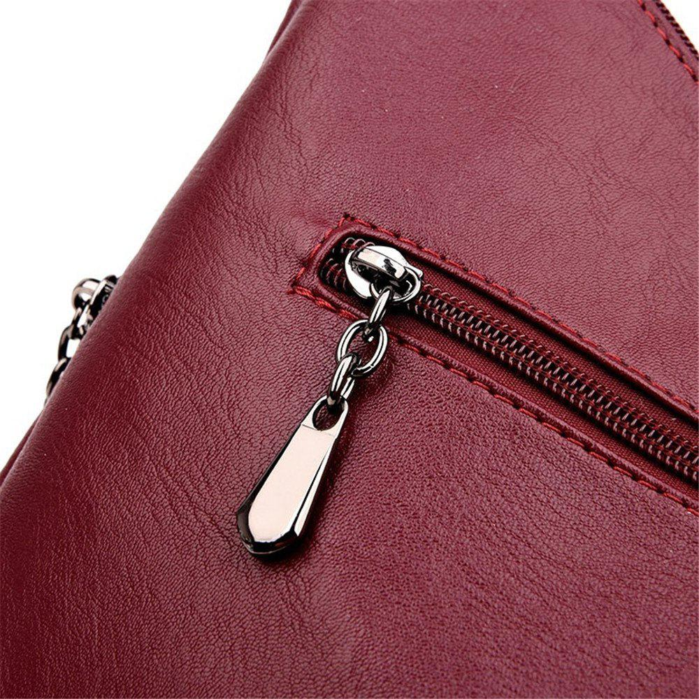 Stylish Shoulder Diagonal Portable Lady Backpack - RED