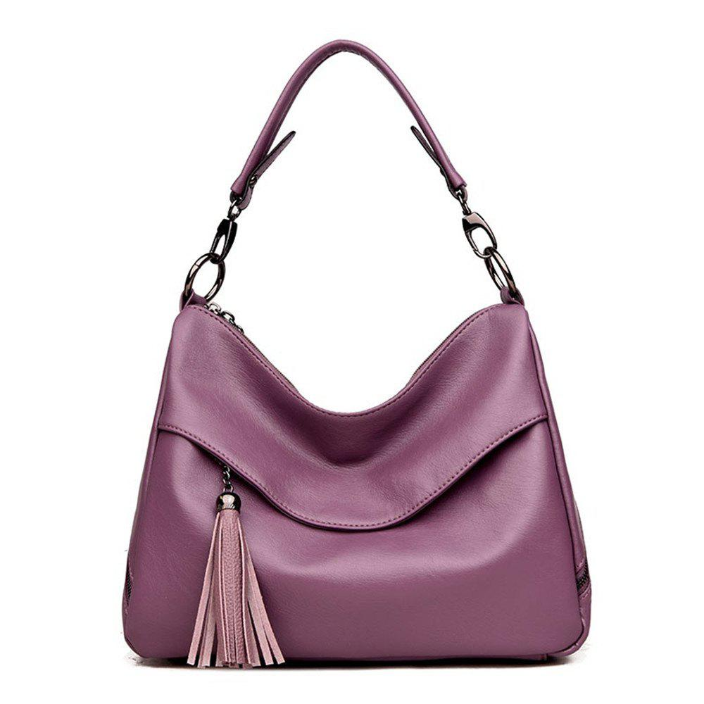 Stylish Shoulder Diagonal Portable Lady Backpack - PURPLE/PINK