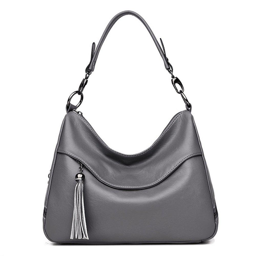 Stylish Shoulder Diagonal Portable Lady Backpack - GRAY