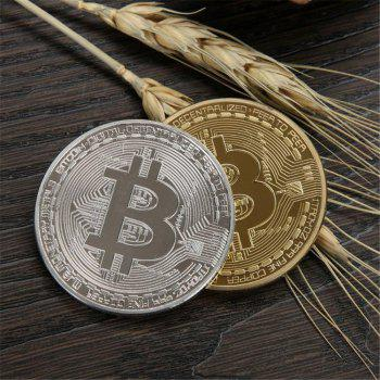 Gilt Wrought Iron Collection Gift Coin Virtual Currency Bitcoin Souvenir -  GOLDEN