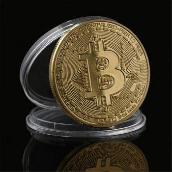 Gilt Wrought Iron Collection Gift Coin Virtual Currency Bitcoin Souvenir - GOLDEN GOLDEN