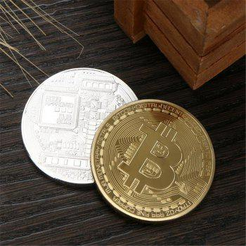 Collection de fer forgé en fer forgé Collection de monnaie virtuelle Bitcoin Souvenir - Argent