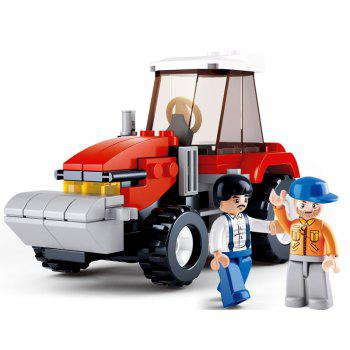 Sluban Building Blocks Educational Kids Toy Farmer Tractor of Town 103PCS - MIXCOLOR MIXCOLOR