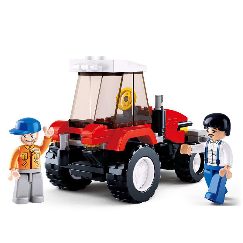 Sluban Building Blocks Educational Kids Toy Farmer Tractor of Town 103PCS - MIXCOLOR