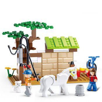 Sluban Building Blocks Educational Kids Toy Horse Care Station of Town 110PCS - MIXCOLOR MIXCOLOR