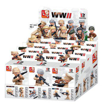 Sluban Building Blocks Educational Kids Toy 12 Models Assorted Army Set Military Toys -  MIXCOLOR
