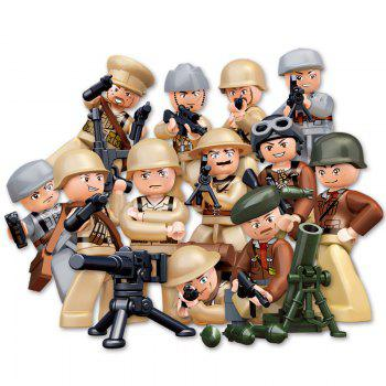 Sluban Building Blocks Educational Kids Toy 12 Models Assorted Army Set Military Toys - MIXCOLOR MIXCOLOR