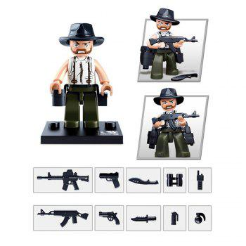 Sluban Building Blocks Educational Kids Toy Police Set 1PC - ARMY GREEN CAMOUFLAGE ARMY GREEN CAMOUFLAGE