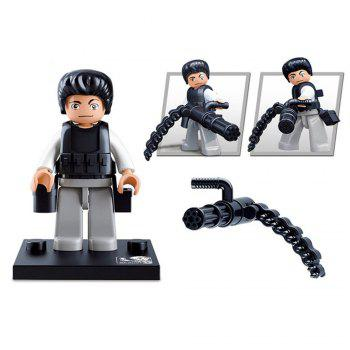 Sluban Building Blocks Educational Kids Toy Police Set 1PC - ARMY GREEN AND CAMEL ARMY GREEN/CAMEL