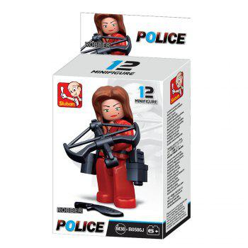 Sluban Building Blocks Educational Kids Toy Police Set 1PC - RED