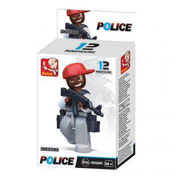 Sluban Building Blocks Educational Kids Toy Police Set 1PC - GREY