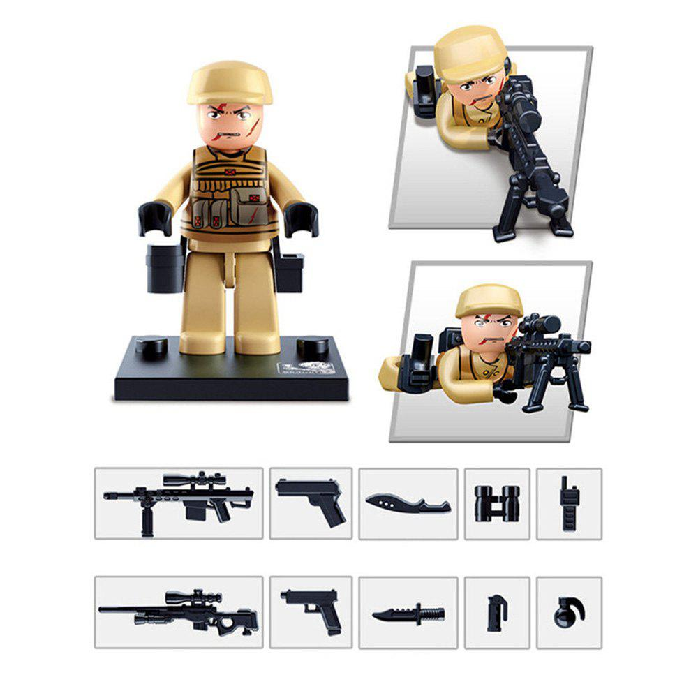 Sluban Building Blocks Educational Kids Toy Police Set 1PC - ARMY GREEN