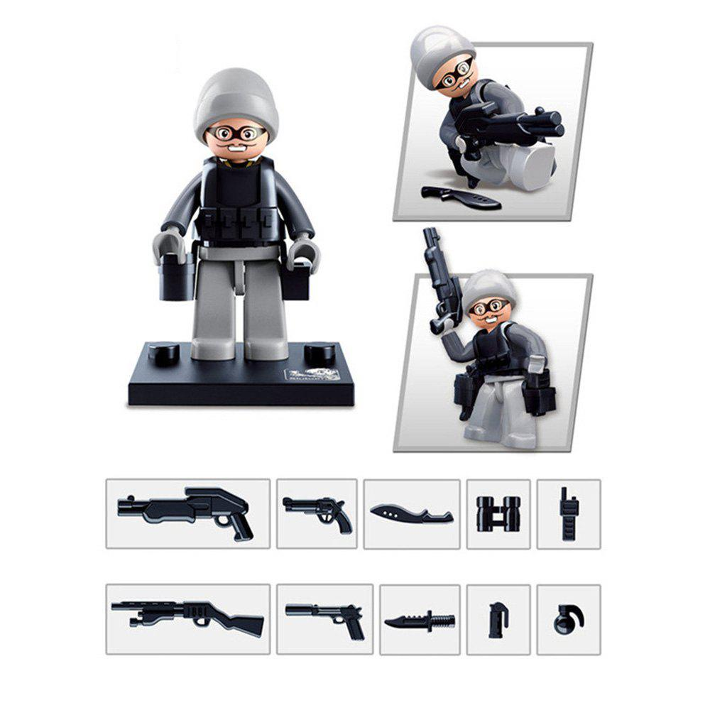 Sluban Building Blocks Educational Kids Toy Police Set 1PC - LIGHT GREY