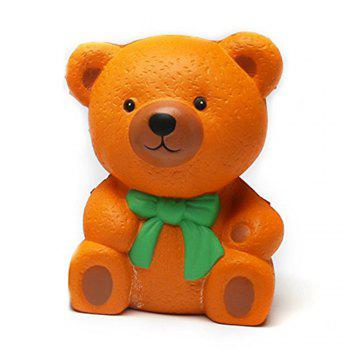 High Quality Squeeze Stretch Squishy Orange Bow Tie Bear Fruit Scented Slow Rising Gift Toy for Kids - ORANGE ORANGE