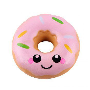 Jumbo Colorful Donuts Soft Squishy Slow Rising Squeeze Kids Toy Gift - PINK