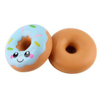 Jumbo Colorful Donuts Soft Squishy Slow Rising Squeeze Kids Toy Gift - WINDSOR BLUE
