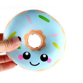 Jumbo Colorful Donuts Soft Squishy Slow Rising Squeeze Kids Toy Gift - WINDSOR BLUE WINDSOR BLUE