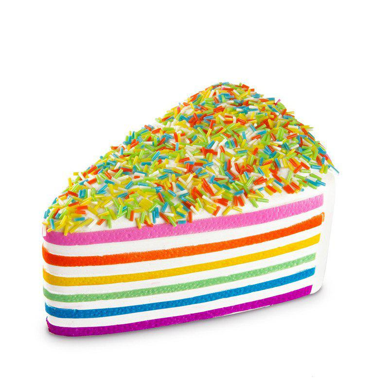 Funny Squishy Toy Made By Enviromental PU Material Replica Triangular Rainbow Cake for Different Age Group - COLORMIX