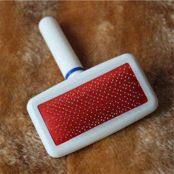 Pet Dog Comb Long Hair Brush Plastic Handle Puppy Cat Dog Massage Bath Brush Multifunction Pet - WHITE