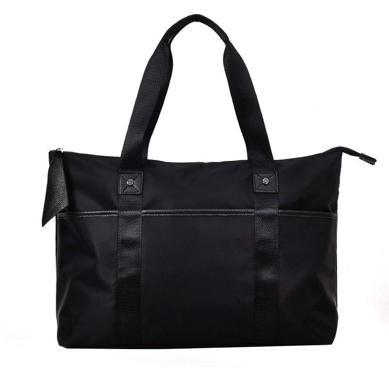 Large Capacity Slung Mens Handbag for Outdoor Sports Bag - BLACK