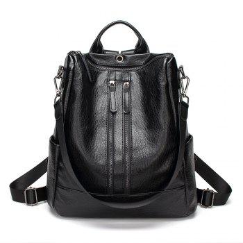 Women s Convertible PU Leather Backpack Versatile