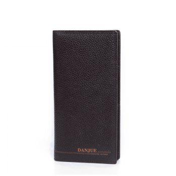 DANJUE Genuine Leather Wallets for Men'S Long Real Leather Business Purse Fashion Clutches Bag - BROWN BROWN