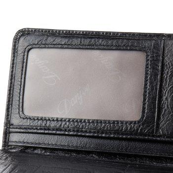 DANJUE Men'S Wallets Genuin Phone Wallet - BLACK
