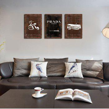 QiaoJiaHuaYuan No Frame Canvas Three Pieces of the Drawing Room Sofa Background Decoration Hanging Painting Now Contract -  COLORMIX