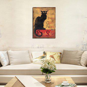 QiaoJiaHuaYuan  No Frame Canvas Living Room Sofa Background Bedroom Adornment art Deco Animal Cat - COLORMIX