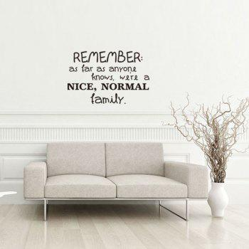 DSU Explosion Models Selling English Wall Stickers for Room Decoration Stickers - BLACK 57X37.4CM